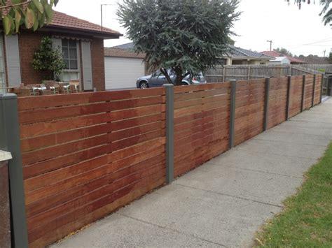 merbau slat top class fencing  gates