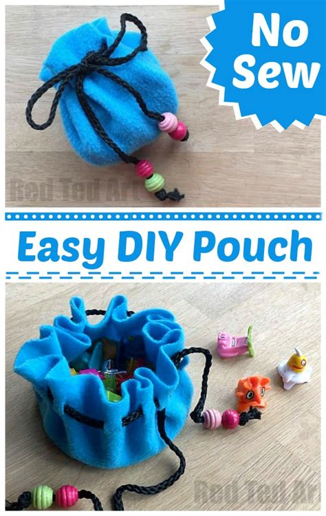 sew pouch diy red ted art