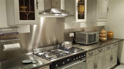 credence cuisine a coller plakinox crédence inox brossé 90x75 cm 900 x 750 mm