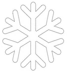 Simple Snowflake Coloring Pages