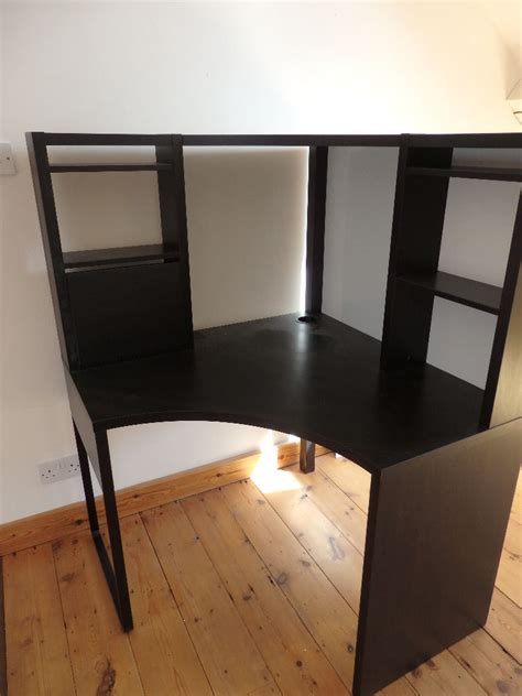 ikea micke corner desk black brown in clifton bristol