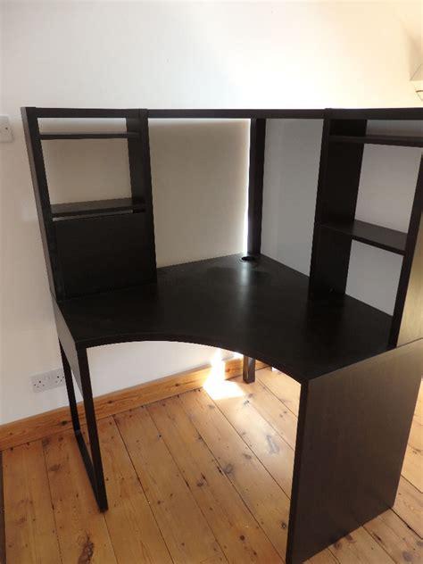 ikea black corner desk ikea micke corner desk black brown in clifton bristol