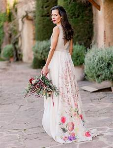 bold romantic barcelona wedding reception with a floral With flower dress for wedding
