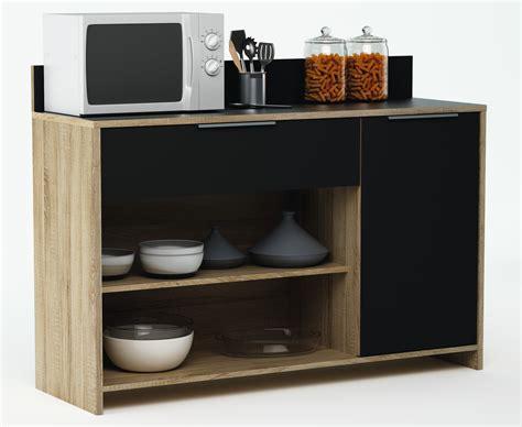 d馗or de cuisine meuble de rangement de cuisine chêne brut noir miky soldes cuisine promos