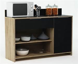 But Meuble De Cuisine : meuble de rangement de cuisine ch ne brut noir miky ~ Dailycaller-alerts.com Idées de Décoration