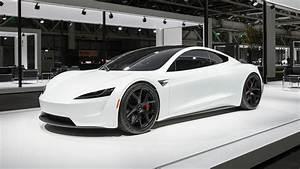 2020 Tesla Roadster Makes European Debut Dressed in White   Automobile Magazine