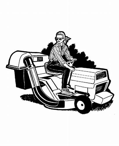 Lawn Mower Coloring Pages Farm Equipment Clipart