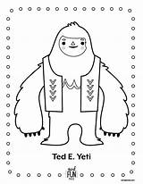 Yeti Coloring Pages Crafts Snowman Printable Nod Christmas Abominable Winter Monster Activity Activities Birthday Books Coloriage Bigfoot Everest Ted Craft sketch template