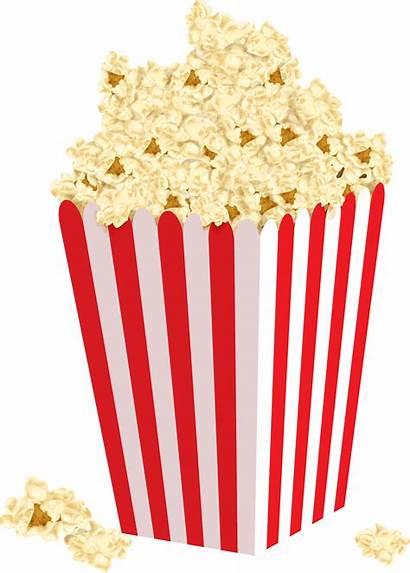 Clipart Pocorn Popcorn Box Clip Vector Library