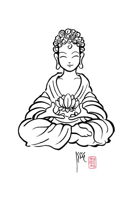 Buddha Lotus by 73553 | Buddha drawing, Buddhism art