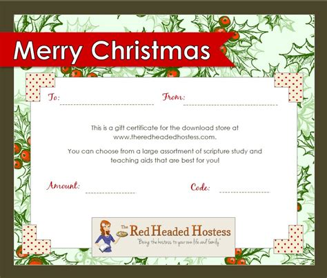 best photos of printable christmas gift vouchers blank christmas gift certificates templates