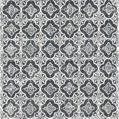 seville black geometric tile wallpaper