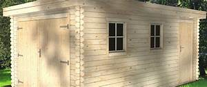 Garage Bois 20m2 : abris de jardin 20m2 toit plat l 39 habis ~ Melissatoandfro.com Idées de Décoration