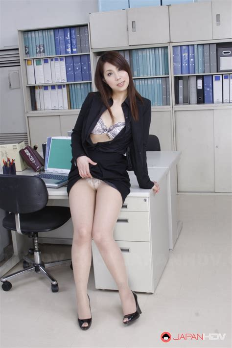 After Work Good Looking Japanese Secretary Undresses In