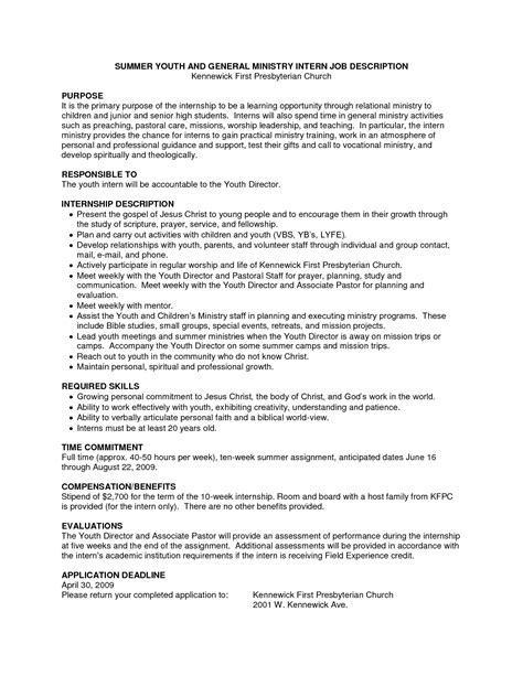church resume template youth free cool resume exles for