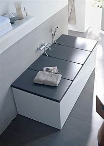 bathtub cover shelves from duravit architonic With bathroom tub covers