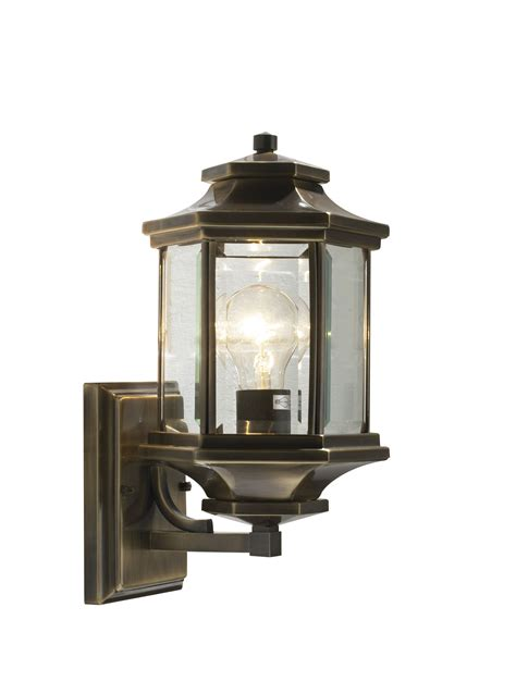 ladbroke 1 light antique brass double insulated outdoor