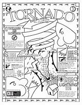 Tornado Coloring Pages Weather Storm Colour Warning Printable Disaster Severe Natural Drawing Realistic Getdrawings Twister Getcolorings Crafts sketch template