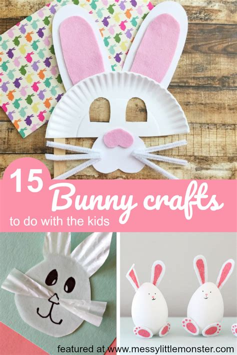 adorable easter bunny crafts messy  monster