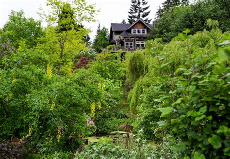 a whidbey island garden built on a kettle the seattle times