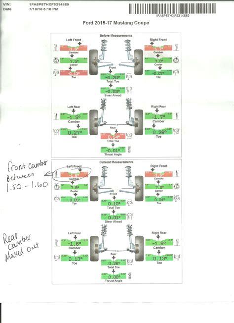 bmr sp alignment specs   mustang forum gt
