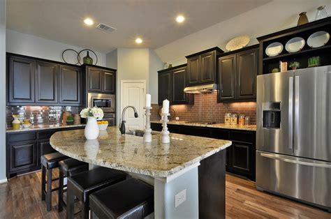 espresso kitchen island kitchen 032b burrows cabinets central builder 3596