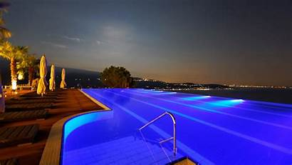 Swimming Pool Night Resort Spa Wallpapers Landscape