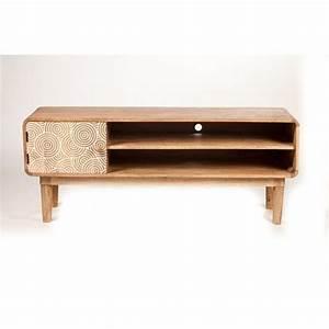 Meuble En Pin Massif Scandinave : meuble tv scandinave allure discr te en bois de manguier massif meubles en bois imprim ~ Melissatoandfro.com Idées de Décoration