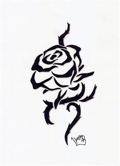 Tattoo Rose Designs Tribal Tattoos Flower Simple