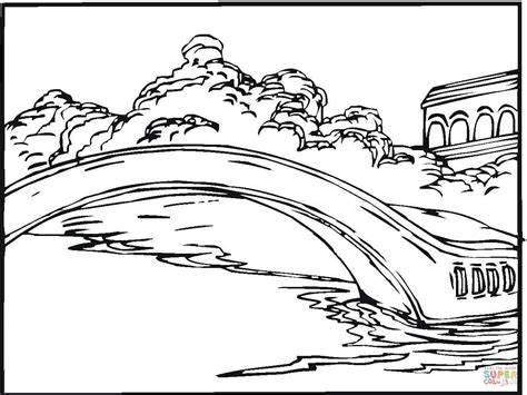 Brooklyn Bridge Coloring Page Coloring Pages