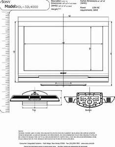Sony Kdl 32l4000 User Manual Dimensions Diagram Kdl32l4000