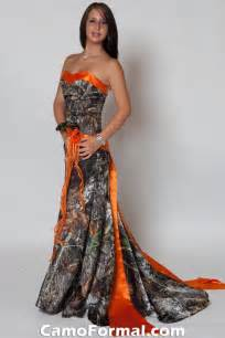 Camo Wedding Dress with Orange