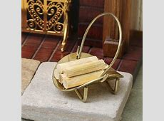 Dollhouse Miniature Old Fashioned Brass Log Basket