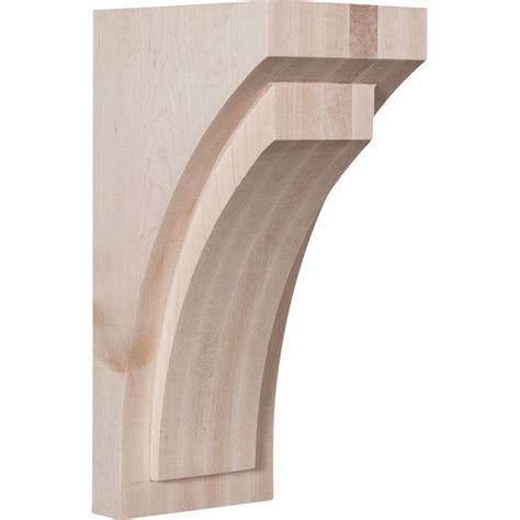 Wood Corbels by Ekena Millwork 5 1 2 In X 14 In X 7 3 4 In Alder Jumbo