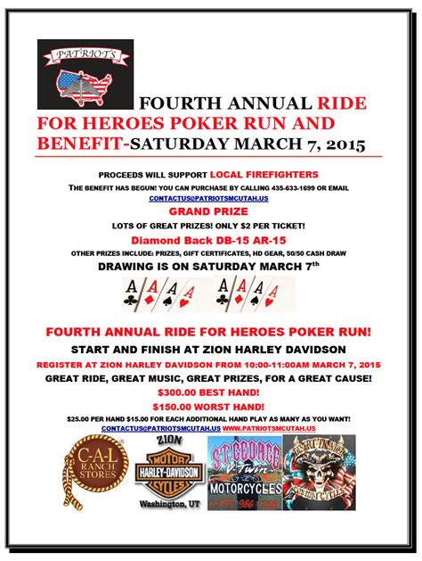 'ride For Heroes' Poker Run Benefits Firefighters. Annual Operating Budget Template. Free Under Construction Template. College Graduation Gifts For Friends. Payment Receipt Template Excel. Make My Own Flyer. Donation Form Template Word. Eid Greeting Cards. Bank Statement Reconciliation Template