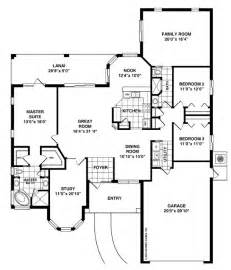 room floor plans the slater with family room home plan 4 bedroom 2 bath 2 car garage 1 642 sq ft living space
