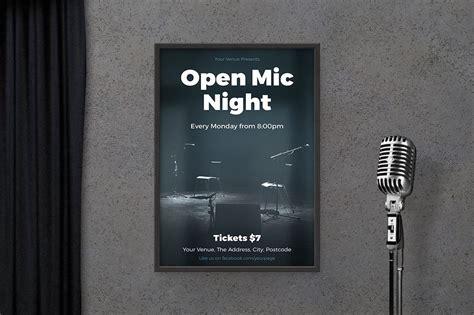 foto de Open Mic Night Poster ~ Flyer Templates ~ Creative Market