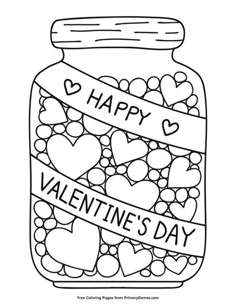 21 Best Free Valentine Coloring Pages for Your Kids