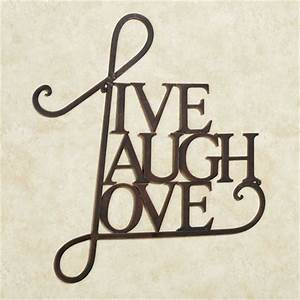 live laugh love metal word wall art With wall word art