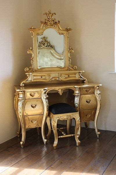 gold vanity table set fabulous rococo dressing table gold leaf rococo