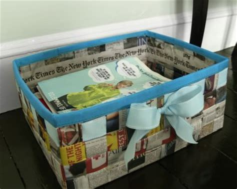 Basket Made Out of Newspaper