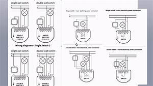 Fibaro Relays - Wiring Diagram Overview - Z-wave - Fgs213 - Fgs223 - Fgs212 - Fgs222