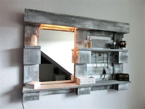 Stylingwandregal Mit Spiegel Und Beleuchtung