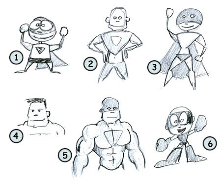 draw cartoon superheros