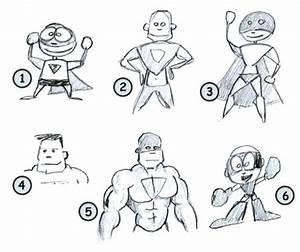 How to draw cartoon superheros