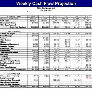 download weekly cash flow projection With cash flow projection worksheet template