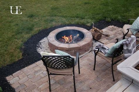 pit on patio diy paver patio and fire pit decks backyards and middle