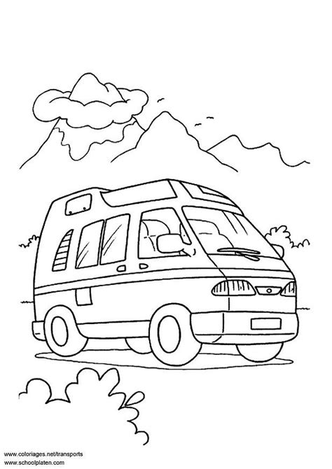 van coloring pages getcoloringpagescom