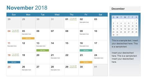 powerpoint calendar template 2018 powerpoint calendar template year 2018 slidemodel