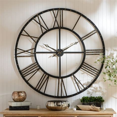 clocks open face wall clock oversized wall clock large decorative wall clocks wayfair wall